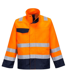 MV35 Hi Vis Modaflame Jacket (Orange/Navy)