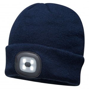 Beanie with LED headlight/torch